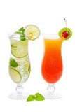 Tropical cocktails Royalty Free Stock Images