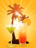 Tropical cocktails Royalty Free Stock Photography