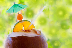 Tropical coconut cocktail . Stock Images