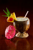 Tropical coconut drink Stock Image