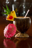 Tropical coconut drink Stock Photos