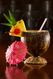 Tropical coconut drink Stock Images