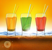 Tropical coctails Royalty Free Stock Image