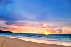 Tropical colorful sunset. Royalty Free Stock Photo