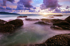 Tropical colorful sunset. Stock Photos