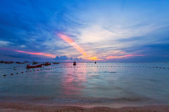 Tropical colorful sunset. Royalty Free Stock Photography