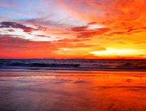 Tropical colorful sunset. Royalty Free Stock Photos