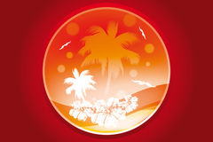 Tropical concept. Tropical round concept in various orange colors - vector illustration vector illustration