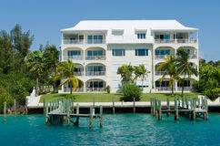 Tropical condo resort. In Bahamas Stock Images