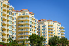 Tropical Condominiums. Residential Condos in Tropical Country or Island Stock Images