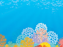Tropical coral reef royalty free illustration
