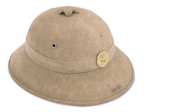 Tropical cork helmet of North Vietnam army Stock Images