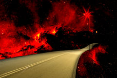 Tropical Country Road on Fire. Image of a Malaysian country road on fire at night Stock Photography