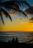 Tropical Couple At Sunset Stock Photography