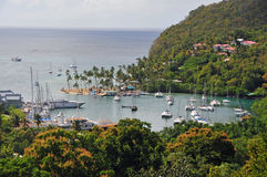 Tropical Cove Overlook. An overlook view of a cove on a tropical island Royalty Free Stock Images