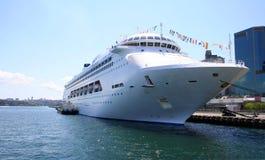Tropical Cruise Ship, Australia. Tropical Cruise Ship anchored at King Street Wharf, Sydney, Australia Stock Photos