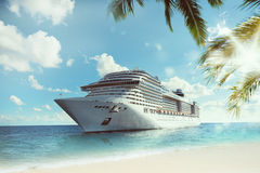 Tropical cruise voyage Stock Images
