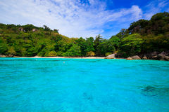 Tropical crystal clear sea, Similan islands Royalty Free Stock Photography