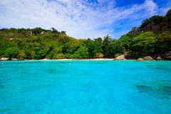 Tropical crystal clear sea, Similan islands, Andaman Stock Photo
