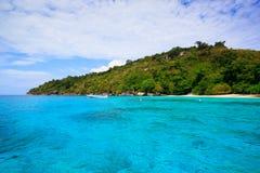 Tropical crystal clear sea, Similan islands, Andaman Royalty Free Stock Photo