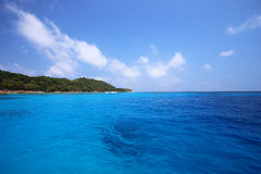 Tropical crystal clear sea, Tachai island, Andaman Stock Image