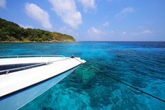 Tropical crystal clear sea, Tachai island, Andaman Royalty Free Stock Image
