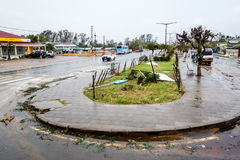 Tropical Cyclone Dineo destruction Maxixe citycenter Royalty Free Stock Photos