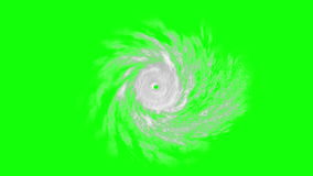 Tropical cyclone on green screen, CG animation. Computer-generated footage on the meteorological theme. All texture maps were created in graphic editor without stock footage