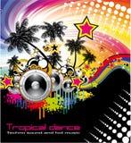 Tropical Dance Music Flyer vector illustration