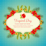 Tropical day. Summer holiday theme for poster, card, flyer. etc. eps 10 file, with no gradient meshes,blends,opacity, stroke path,brushes.Also all elements stock illustration