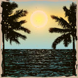 Tropical Day Vintage Poster Stock Photography