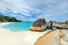 Tropical desert island beach Royalty Free Stock Photography