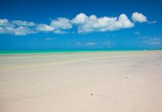Tropical deserted perfect beach on island Stock Images