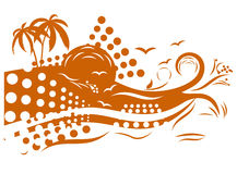 Tropical design Royalty Free Stock Photo