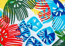 Tropical Design. Brightly colored placemat with tropical design Royalty Free Stock Images
