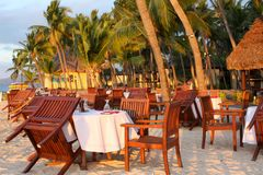 Tropical dining Stock Images