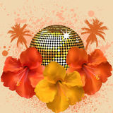 Tropical disco ball Stock Images