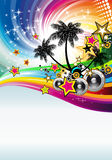 Tropical Disco Dance Background Stock Image