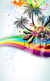 Tropical Disco Dance Background Royalty Free Stock Image