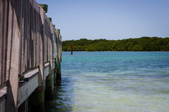 Tropical Dock Royalty Free Stock Images