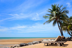 Tropical dream beach. In Thailand near Hua Hin Royalty Free Stock Photos