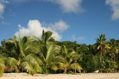 Tropical Dream Beach Paradise. Of the South Pacific,Fiji Stock Photo