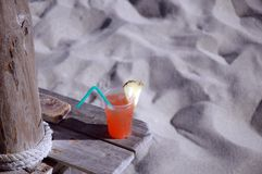 Tropical drink in Cuba Royalty Free Stock Photography