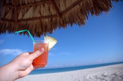 Tropical Drink In Cuba Royalty Free Stock Images