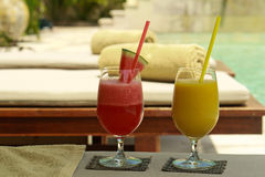 Tropical drinks Stock Photos