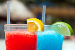 Tropical drinks. On the vacations Stock Photo