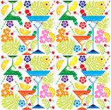 Tropical drinks flowers and fruit Royalty Free Stock Photos