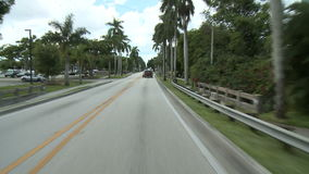 Tropical Driving - Roof Mounted Car Cam - 4 of 8. Driving around Fort Myers, Fla with a roof mounted camera.  Shot with a Sony EX3 stock footage