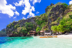 Tropical escape- unique nature and beautiful beaches of Philippines Stock Image
