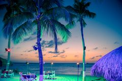 Tropical Beach Evening Royalty Free Stock Images